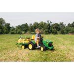 Peg Perego John Deere Ground force with trailer loader 12V OR0047 Bērnu elektro traktors