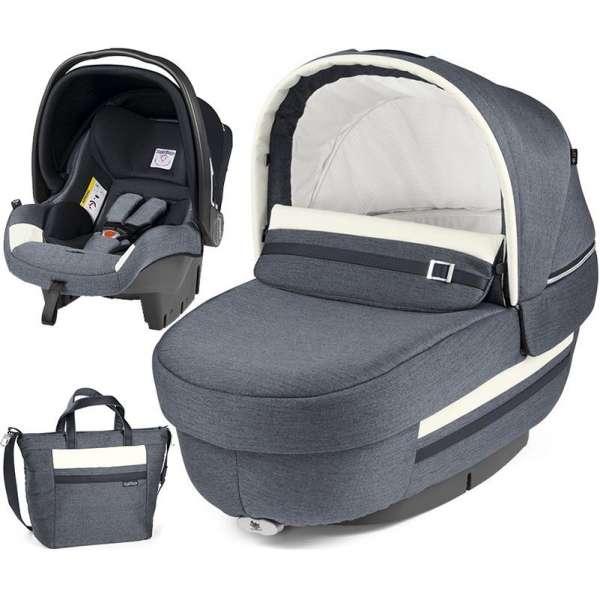 Peg Perego Set Elite Luxe Mirage (kulbiņa, autokrēsliņš, soma)